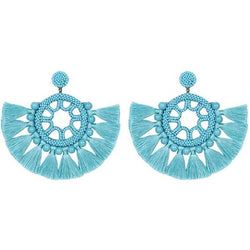 Deepa by Deepa Gurnani Handmade Lacey Earrings in Turquoise