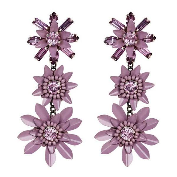 Deepa by Deepa Gurnani Handmade Lavender Cerina Earrings