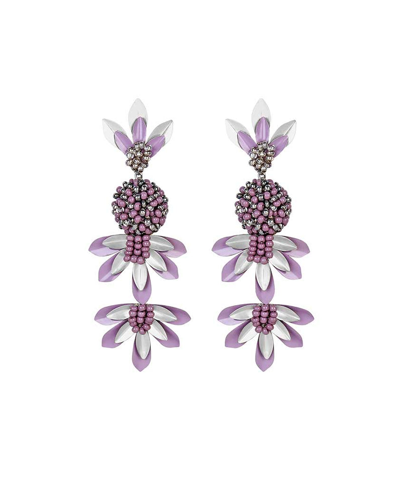 Deepa by Deepa Gurnani Handmade Teigen Earrings Lavender