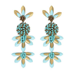 Deepa by Deepa Gurnani Handmade Teigen Earrings Turquoise