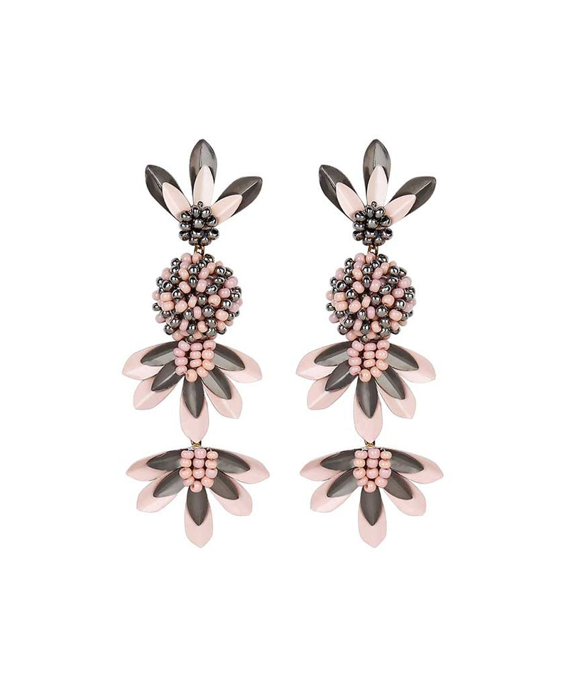Deepa by Deepa Gurnani Handmade Teigen Earrings Peach