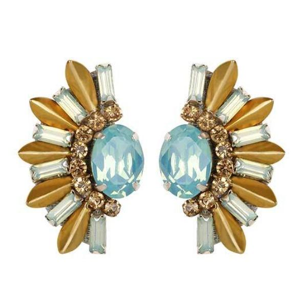 Deepa by Deepa Gurnani Handmade Mint Royce Earrings
