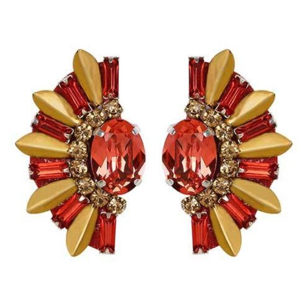 Deepa by Deepa Gurnani Handmade Ruby Royce Earrings