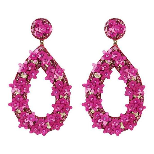 Deepa by Deepa Gurnani Handmade Magenta Jan Earrings