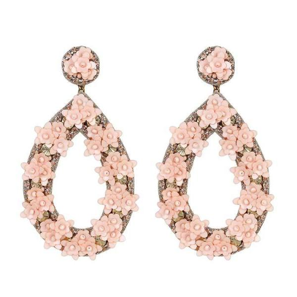 Deepa by Deepa Gurnani Handmade Peach Jan Earrings