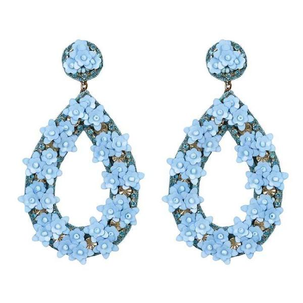 Deepa by Deepa Gurnani Handmade Sky Blue Jan Earrings