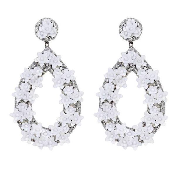 Deepa by Deepa Gurnani Handmade White Jan Earrings