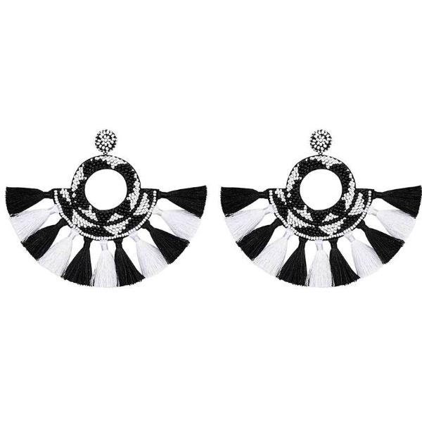 Deepa by Deepa Gurnani Handmade Suzi Earrings in Black