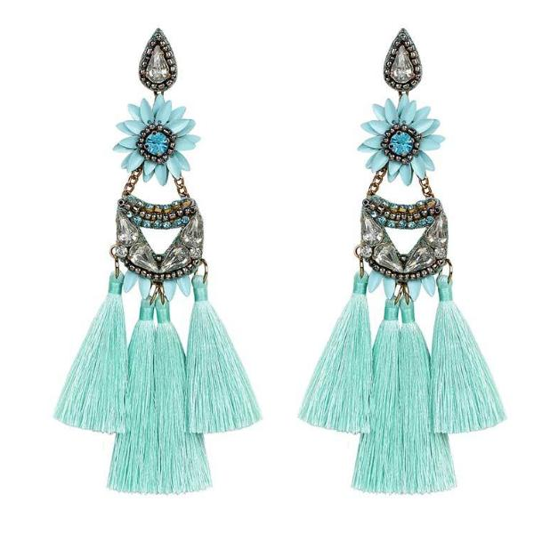 Deepa by Deepa Gurnani Handmade Turquoise Alysha Earrings