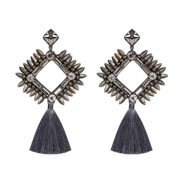 Deepa by Deepa Gurnani Handmade Priya Earrings Gun