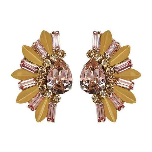 Deepa by Deepa Gurnani Handmade Sheilah Earrings in Rosegold