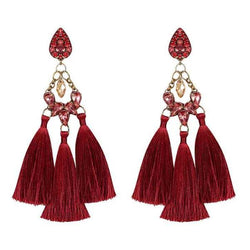 Deepa by Deepa Gurnani Handmade Lauren Earrings in Red