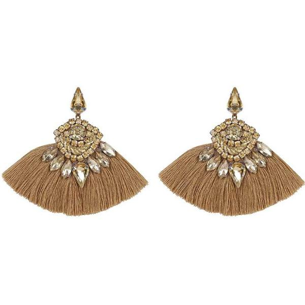 Deepa by Deepa Gurnani Handmade Angie Rain Earrings Gold