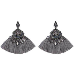 Deepa by Deepa Gurnani Handmade Angie Rain Earrings Gunmetal