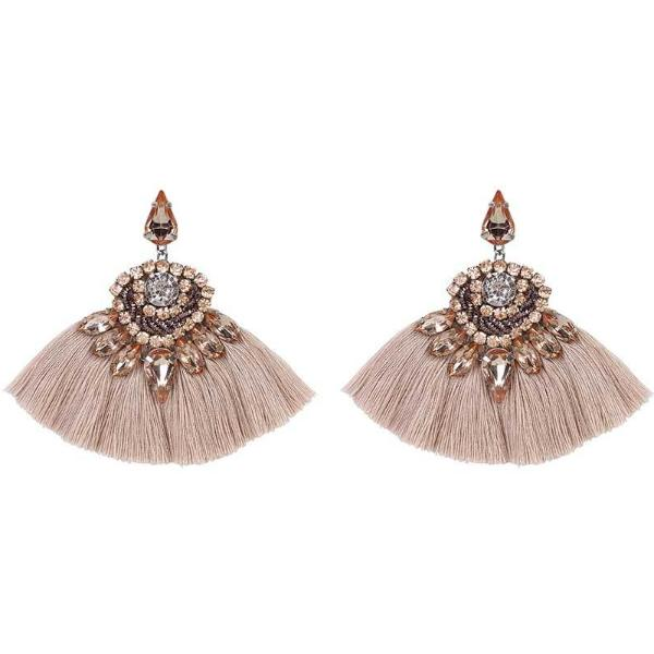Deepa by Deepa Gurnani Handmade Angie Rain Earrings Peach