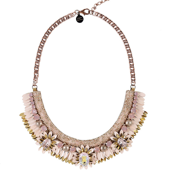 Deepa by Deepa Gurnani Handmade Aira Necklace in Peach