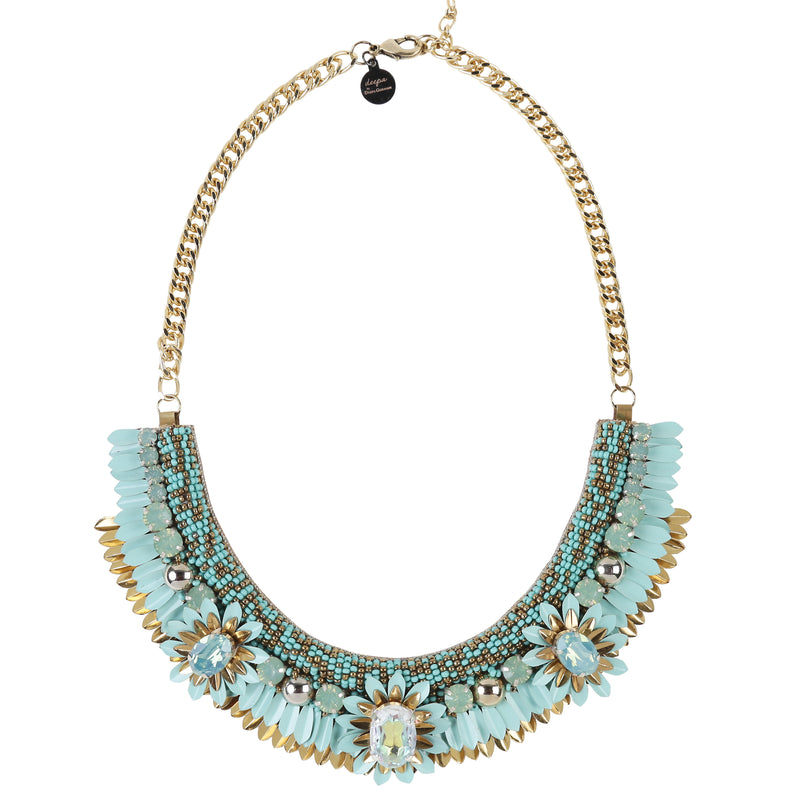 Deepa by Deepa Gurnani Handmade Aira Necklace in Turquoise