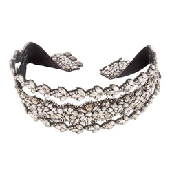 Deepa Gurnani Handmade Luxe Girlie Belt in Gunmetal as seen on The Oprah Magazine
