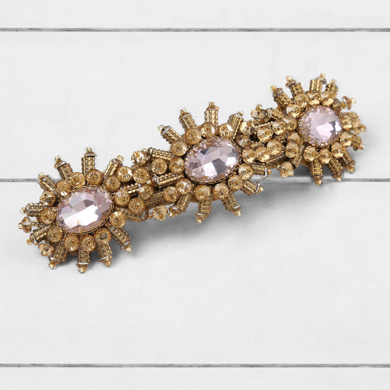 Deepa by Deepa Gurnani Handmade Ansley Barrette Gold On Wood Background
