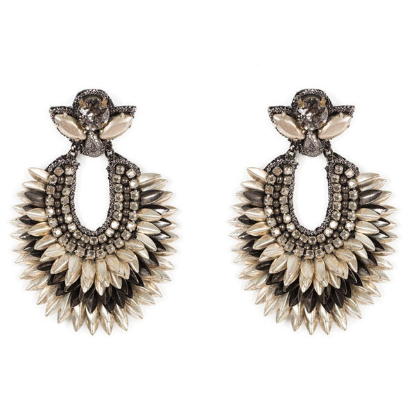 Deepa Gurnani Handmade Brinley Earrings Silver