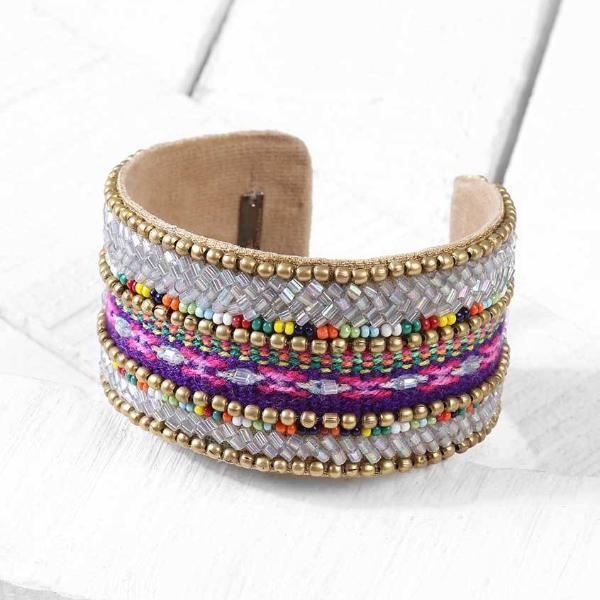 Deepa by Deepa Gurnani Handmade Henna Cuff on Wood Background