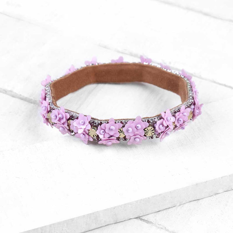 Deepa by Deepa Gurnani Handmade Zaylee Cuff on Wood Background