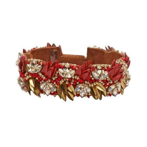 Deepa by Deepa Gurnani Amani Bracelet in Coral Red