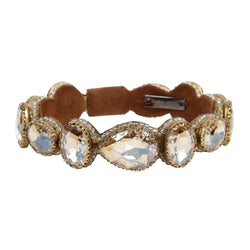 Deepa by Deepa Gurnani Handmade Embroidered Jordyn Bracelet in Gold