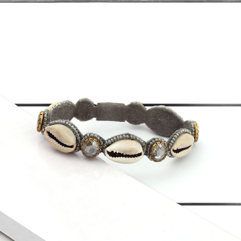 Deepa by Deepa Gurnani Handmade Kaia Bracelet Gun on Wood Background