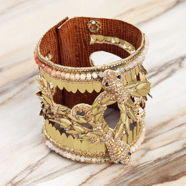 Deepa Gurnani Handmade Dhanashree Bracelet on Marble Background