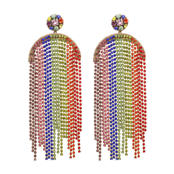 Rainbow Handmade Chandelier Earrings