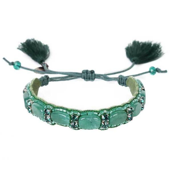 Deepa by Deepa Gurnani Handmade Kip Bracelet in Hunter
