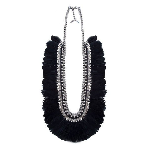 Deepa Gurnani Handmade Blanca Luxe Statement Necklace
