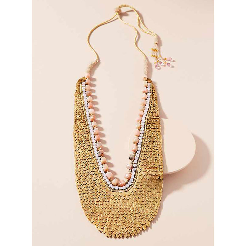 Deepa Gurnani Handmade Blythe Luxe Statement Necklace Lifestyle Image