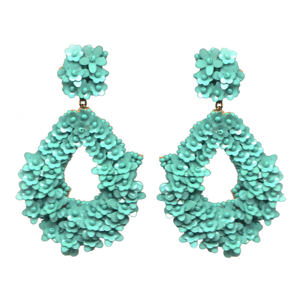 Sequins Earrings Turquoise