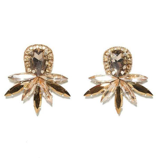 Deepa by Deepa Gurnani Handmade Lorena Earrings in Gold