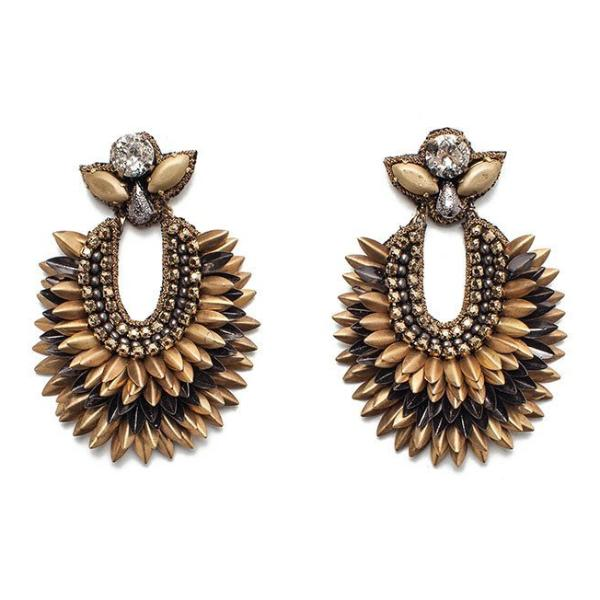 Deepa Gurnani Handmade Brinley Earrings in Gold