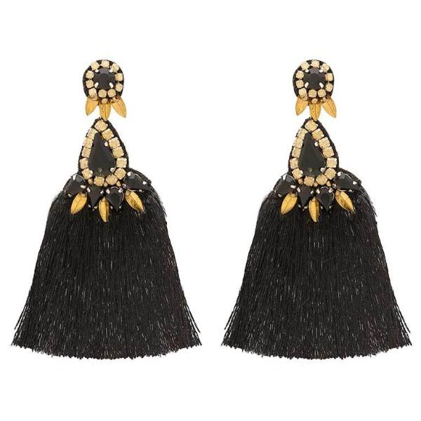 Deepa by Deepa Gurnani Black Herise Earrings