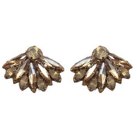 Deepa by Deepa Gurnani Handmade Vania Earrings in Gold