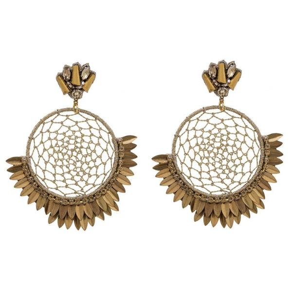 Deepa by Deepa Gurnani Handmade Pixie Earrings in Gold