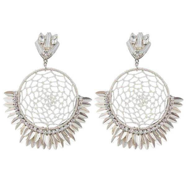 Deepa by Deepa Gurnani Handmade Pixie Earrings in Silver