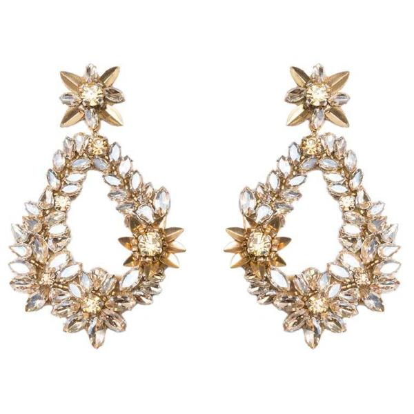Deepa by Deepa Gurnani Handmade Gold Color Belie Earrings