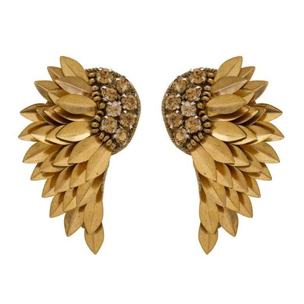 Deepa by Deepa Gurnani Handmade Perry Earrings in Gold