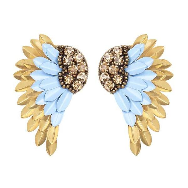 Deepa by Deepa Gurnani Handmade Perry Earrings in Blue and Gold