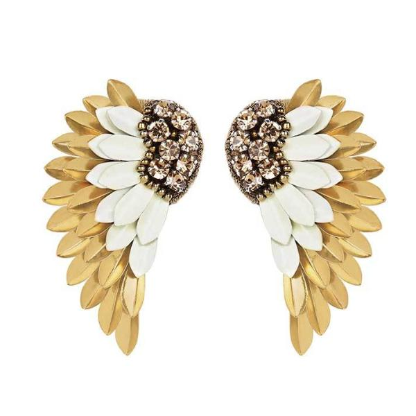 Deepa by Deepa Gurnani Handmade Perry Earrings in White and Gold