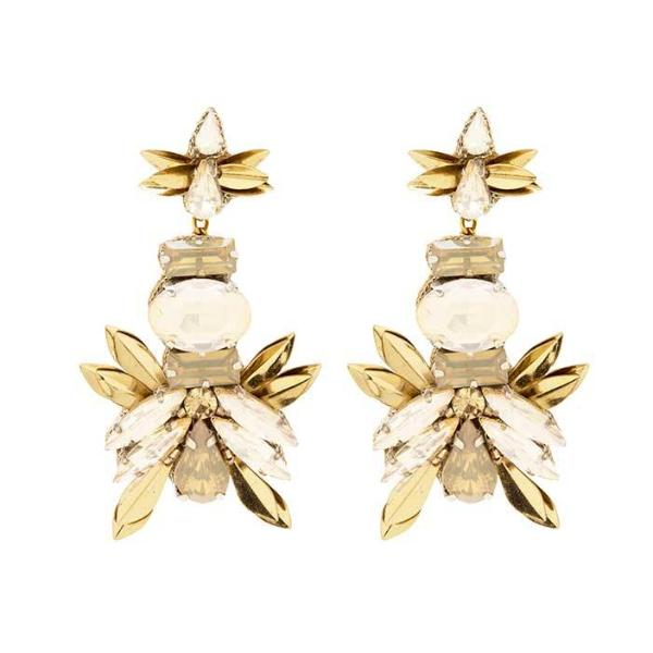 Deepa by Deepa Gurnani Handmade Candie Earrings in Gold