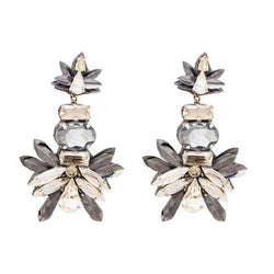 Deepa by Deepa Gurnani Handmade Candie Earrings in Gunmetal