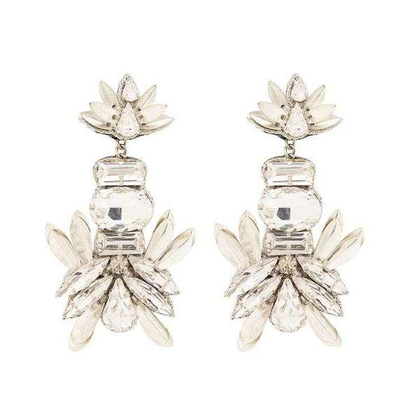 Deepa by Deepa Gurnani Handmade Candie Earrings in Silver