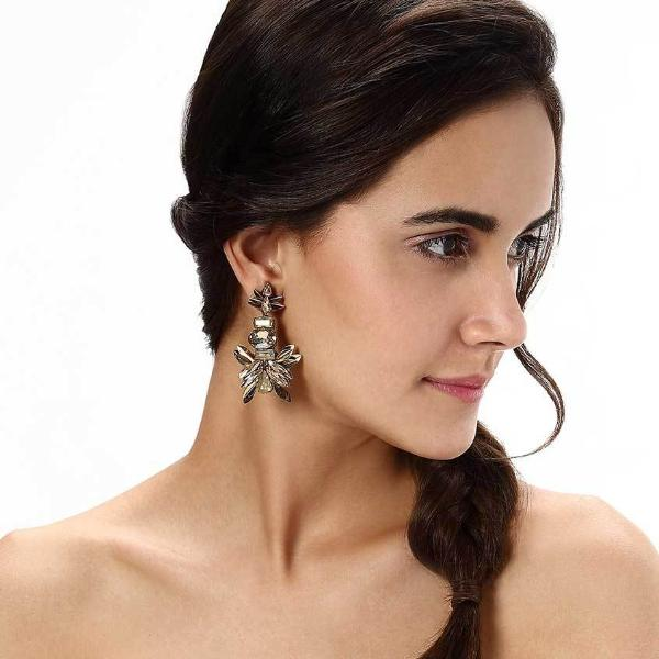 Model Wearing Deepa by Deepa Gurnani Handmade Candie Earrings