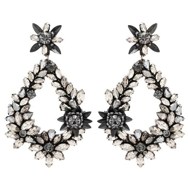 Deepa by Deepa Gurnani Handmade Gunmetal Color Belie Earrings
